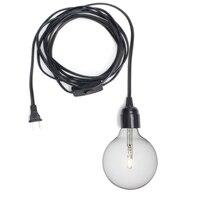 Retro Vintage E26 E27 Lamp Base Black Max 60W 4 5m Power Cord Lamp Base Holder