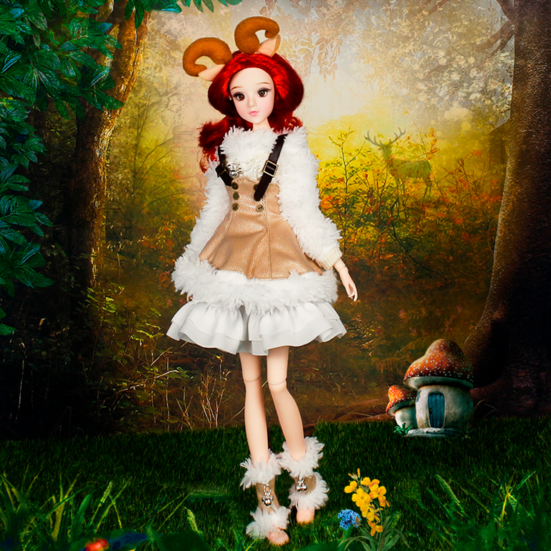 Pretty Fashion Girl Dolls Twelve Constellation Series Aries Dolls Anime Style BJD Doll Toys Birthday Gifts For Collection
