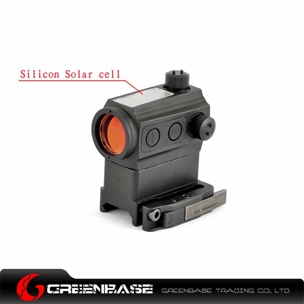 Greenbase QD High Mount Solar Power Red Dot Rifle Scope Riser Mount Low Mount and Kill Flash Black 311 montréal