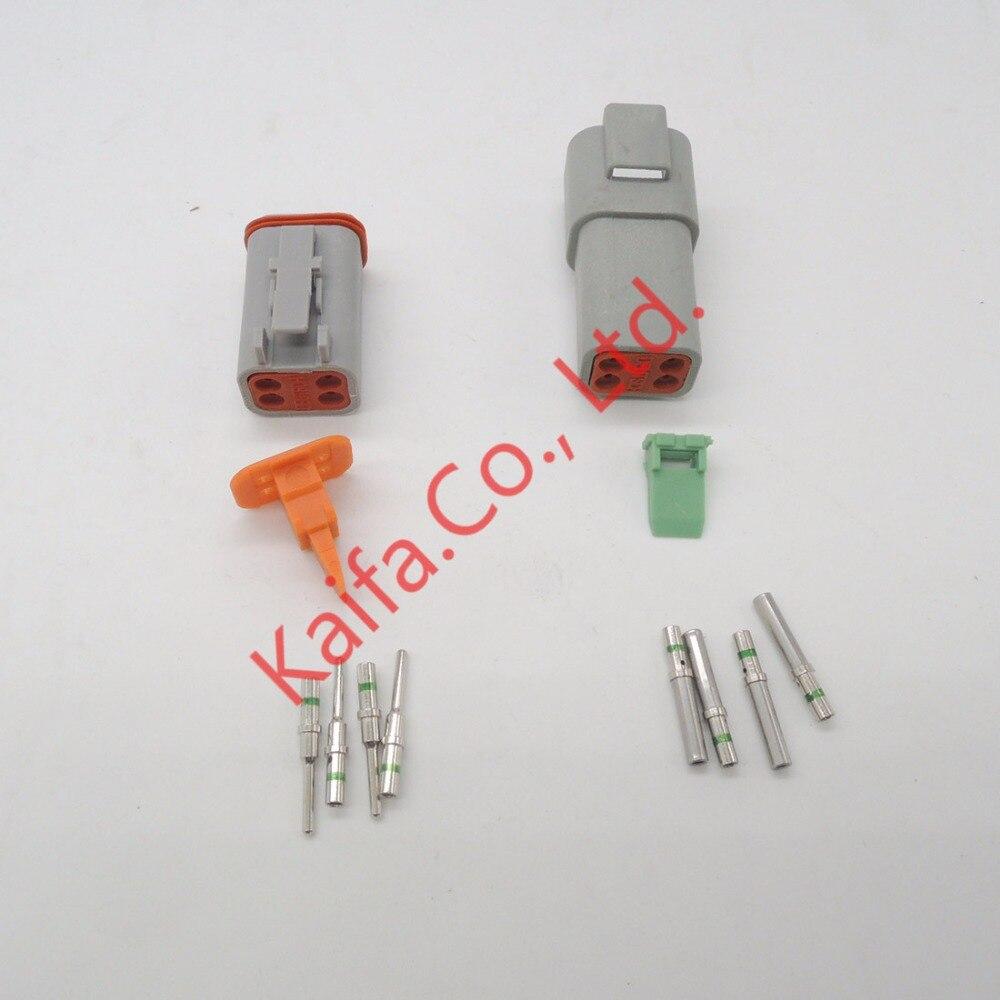 14 GA,10 sets Kit Deutsch DT 2/3/4/6/8/12 Pin Waterproof Electrical ...