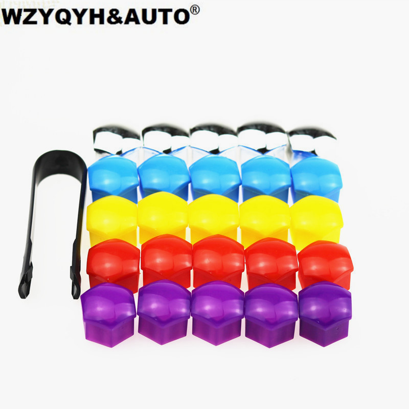 все цены на 5 color car styling 20Pcs 17mm Special Socket Car Wheel Auto Hub Screw Cover Nut Caps Bolt Rims Exterior Decoration Protecting онлайн