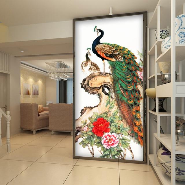 Vintage Peacock Wallpaper Peony Flower Wall Mural 3D Photo Wallpaper  Painting Kids Room Decor Hallway Bedroom