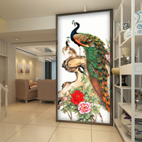 Vintage Peacock Wallpaper Peony Flower Wall Mural 3D Photo Wallpaper Painting Kids Room decor Hallway Bedroom TV background wall