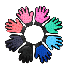 DannyKarl Grooming Glove Dog Bath Cat Cleaning Supplies Pet Glove Dog Combs Silicone Dog Pet brush Glove Deshedding Gentle Pet cat grooming glove mascot pet hair glove removal brush mitts deshedding brush combs cat dog combs supplies bath cleaning massage