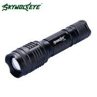 Skywolfeye LED Flashlight Portable XML T6 Zoomable 5 Modes Police Tactical Flash Light 26650 18650 AAA