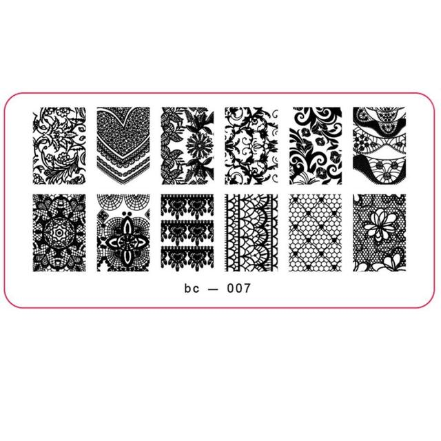 DIY Nail Art Image Stamp Stamping Plates Manicure Template nail ...