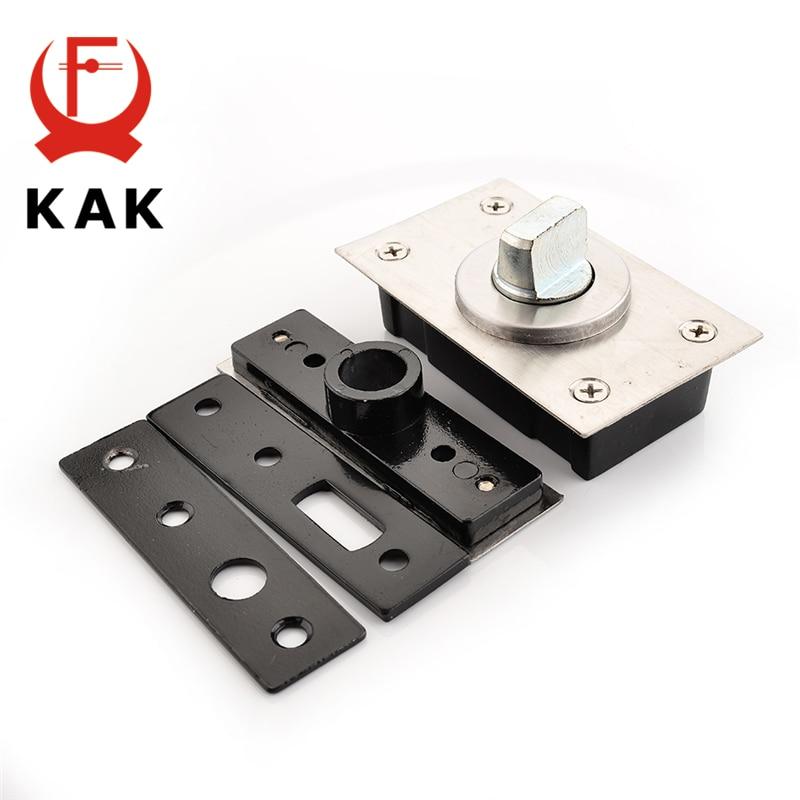 KAK 360 Degree Revolving Door Hinge 90 Degrees Positioning Hidden Floor Pivot Hinges For Furniture Hardware