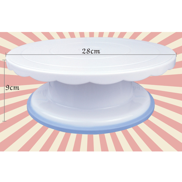 Cake Swivel Plate Revolving Decoration Stand Platform Turntable 28cm Round Rotating Cake Swivel Christmas Baking Tool CT1030