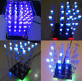 1Pcs New 4*4*4 3D LED LightSquared White LED Blue Ray LED Cube DIY Kit