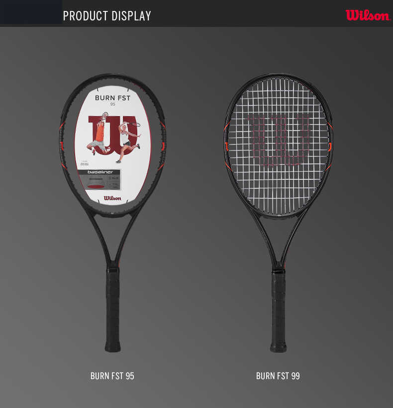 Original Wilson Carbon Fiber Professional Tennis Racket Burn Fst Men and Women WRT7290