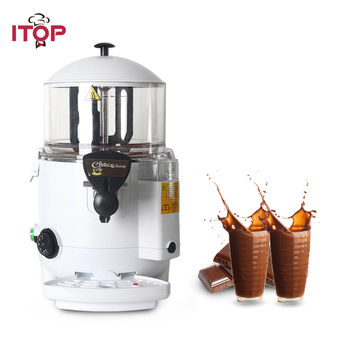 ITOP 5L Commercial Hot Chocolate Dispenser Machine Bath system Hot Beverage Coffee Milktea Mixer Dispenser 1000W hot sale commercial mini kitchen appliance table counter top 5 liter chocolate melting machine for drink dispenser