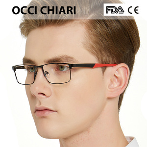 Image 3 - OCCI CHIARI 2018 אופנה מותג גברים טלאים רומן עיצוב מלבן עין משקפיים נקה עדשה אופטי מסגרות משקפיים W CERIONI