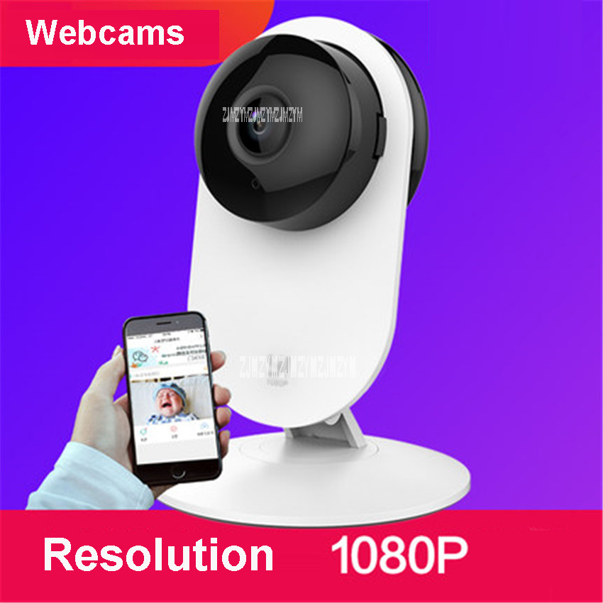 Home Camera 2 FHD 1080P resolution Smart WiFi IP Camera 130 Wide Angle Webcam Gesture Recognition 5V Voltage Webcams