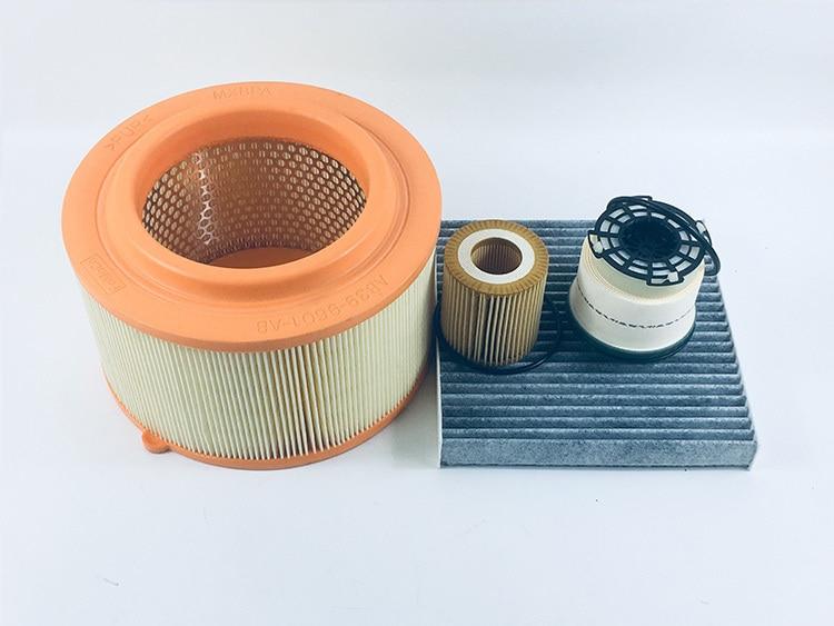 4 pces filtro de ar do carro filtro de cabine filtro de oleo filtro diesel para