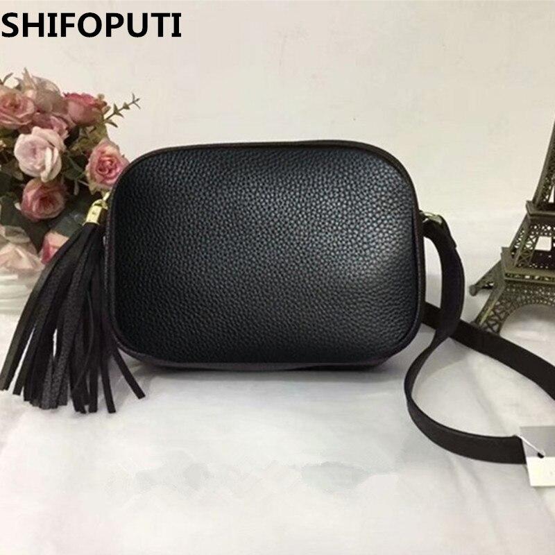 2018 shoulder bag for women messenger bags ladies retro PU leather handbag purse with tassels female crossbody bag black white цена