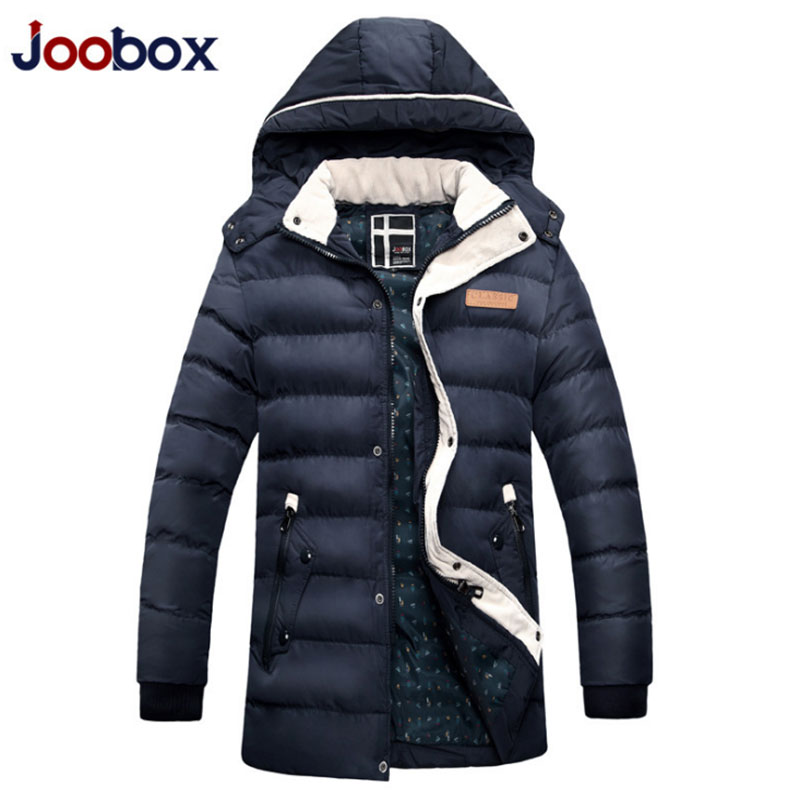 ФОТО 2016 Winter Snow Coats Down Winter Brand Men's Long Hooded Thick Warm Casual Jacket Clothing  MC1712