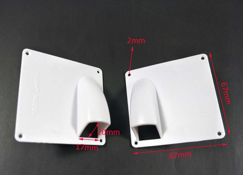 1 Pair Of Plastic White RC Fixed Wing Airplane Servo Covering Plate Cover Board image