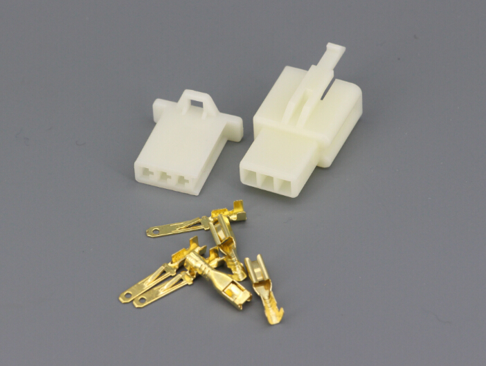 50 Sets Kit 2 8 series 3 Pin way DJ7031A 2 8 Electrical Wire Connectors Plug Male and female Automobile Connector in Connectors from Lights Lighting