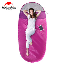 NH Pancake style Camping Adult cotton sleeping bag Spring Winter Ultra-light Multifuntion Portable Travel Sleeping Bag ultra light multifuntion portable spring winter warm polar fleece sleeping bag outdoor camping travel hiking sleeping bag 5color