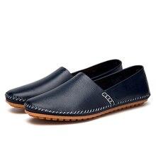 Кожаные мужские лоферы, мужские слипоны из коровьей кожи, мокасины для вождения, повседневная обувь, мужские туфли на плоской подошве, Пенни, лоферы, обувь, HH-496