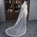 White Vintage Cheap Tulle Bride Cathedral Long Bridal Lace Wedding Veils 2 Meters velos de novia voile mariage DM-32
