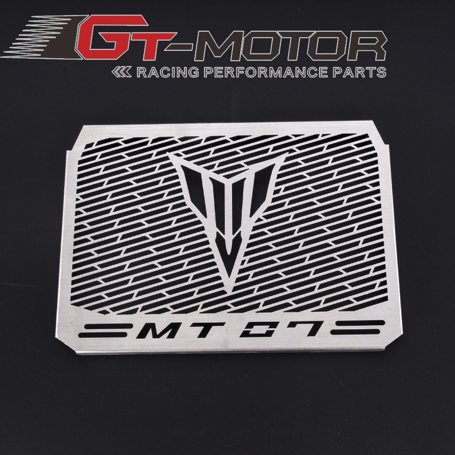 GT MOTOR - Radiator Grille Grill Cover Protector Guard Motorcycle bike stainless steel  For YAMAHA MT-07 MT07 stainless steel radiator frame grill grille cover for kawasaki vulcan vn 1500 1700