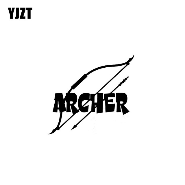 YJZT 13.5CM*12.5CM ARCHERY ARCHER BOW ARROW Vinyl Decal Car Sticker Truck Motorcycle Black Silver C10-02253