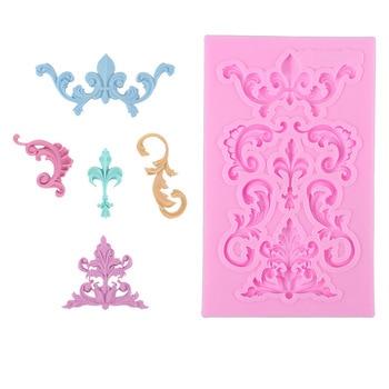 Europea Encaje Vintage frontera moldeado Fondant moldes de silicona molde de la torta decoración herramientas molde 1789
