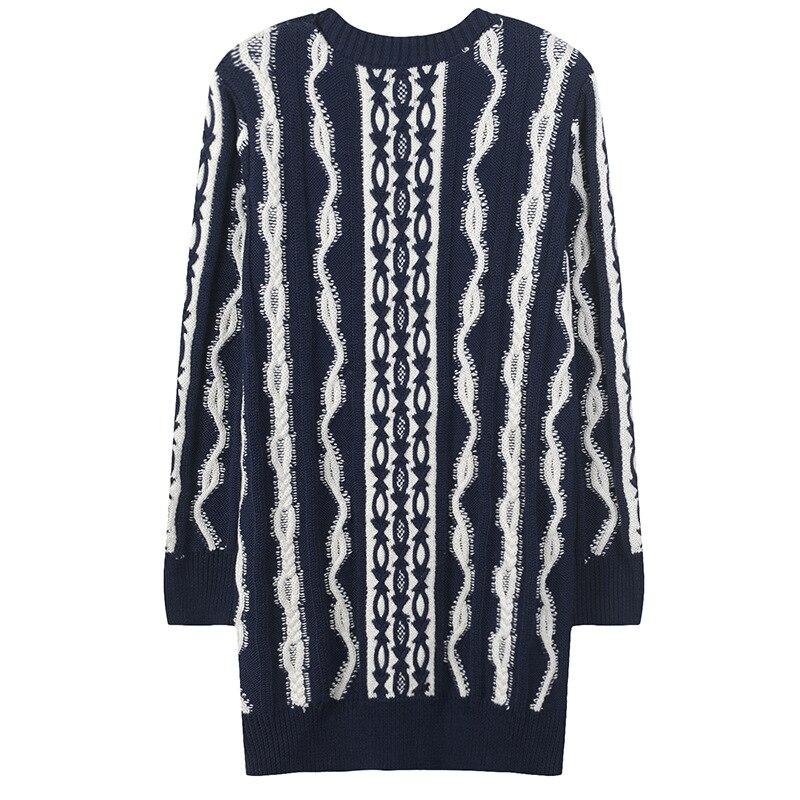 2018 Col Tricoté Femmes 1 Femme Lâche Automne Haute Full Pulls Hiver Épais Longues Couture Manches Rond Sweater Nouvelles rFxrw8qP