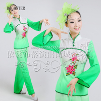 Costume Chinese Cheap Discount Women Ladies Ancient Chinese National Costume Traditional Chinese Dance Red And Green