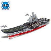 2018 New 1:450 Máy Bay-Carrier Antisubmarine Máy Bay Trực Thăng Xây Dựng Khối Đồ Chơi Đặt Tàu 3D Gạch Figures Đồ Chơi