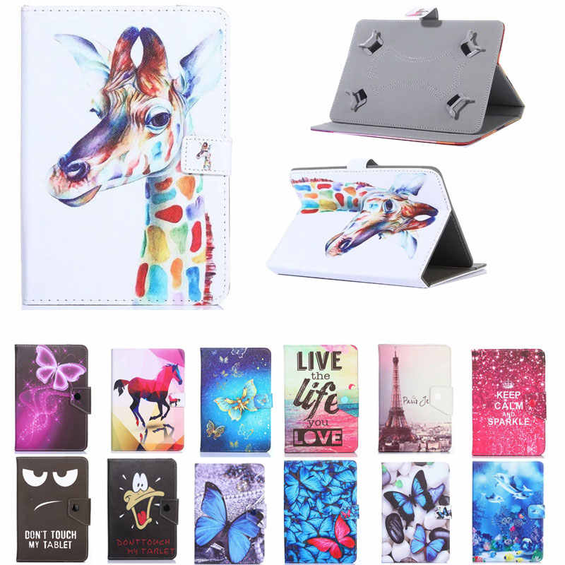 "Voor Samsung Galaxy Tab 4 10.1 ""SM-T530 SM-T531 SM-T535 T531 T535 T530 10.1 inch Tablet Gedrukt PU Leather Stand cover Case"