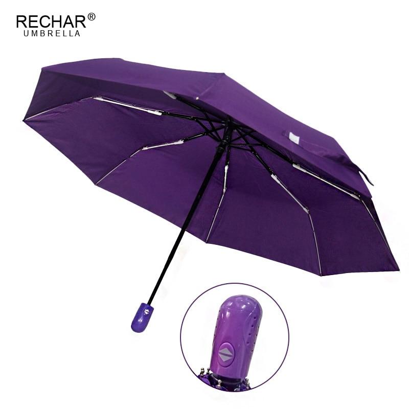 Pilnībā automātiska 3 salokāmā lietussarga lietus sievietes ultrightight vēja necaurlaidīga lietussarga vīriešiem maza krāsains ērts ceļojums Paraguas Parasol