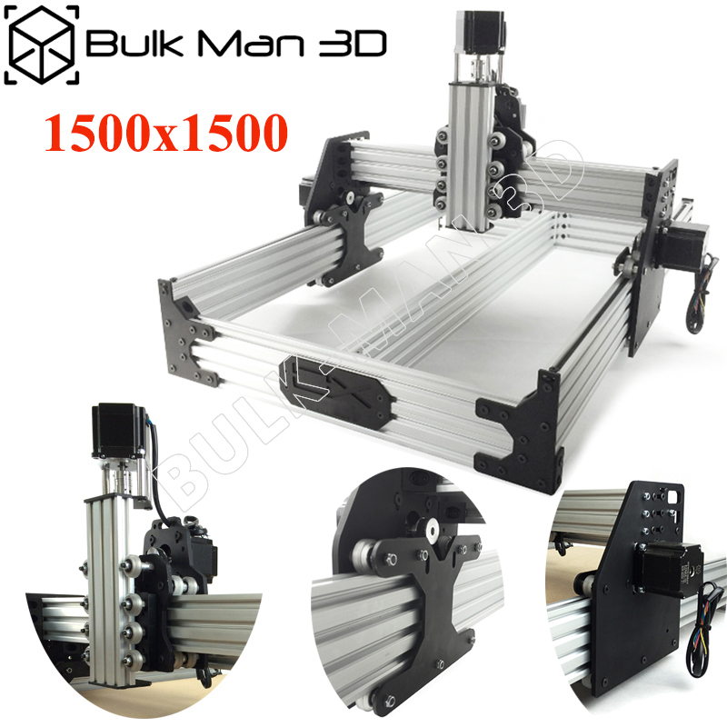OX CNC Router Kit 1.5*1.5M 4Axis Woodworking Milling Machine Desktop DIY Belt Driven Kit With 175 Oz*in Nema23 Stepper Motors