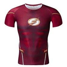 3D печатных Футболки Для мужчин реглан короткий рукав рубашка сжатия flash Косплэй костюм Crossfit Фитнес Костюмы Топы корректирующие мужской