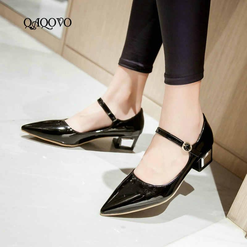 Fashion women pumps square heels comfortable low heels cool