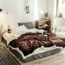 Winter Manta Wool Blanket Cashmere Blanket Brown Warm Blankets Fleece Plaid Super Warm Soft Throw On Sofa Bed Cover 200*230CM