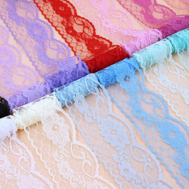 5,5 cm Aushöhlen Floral Spitze Trimmen Weiß Schwarz Creme Blau Lila Rosa Rot Spitze Bänder DIY Handgemachte Handwerk Liefert stoff