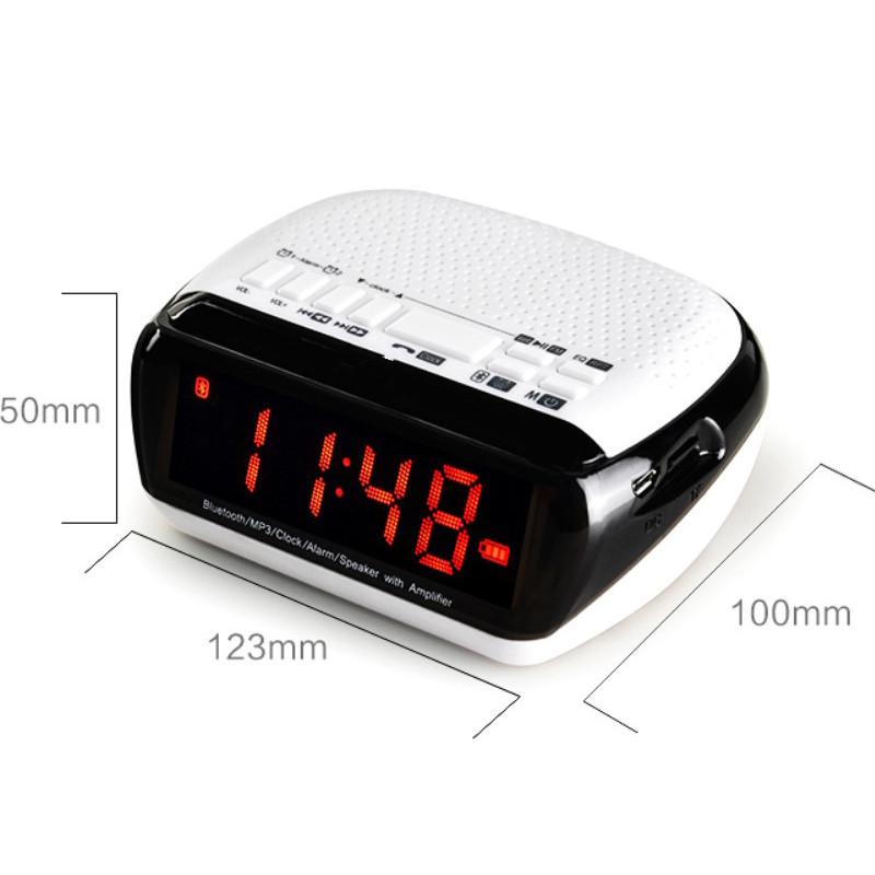 Mini Portable Dual Alarm Clock Bluetooth Stereo Speaker LCD Digital FM Radio Bluetooth Wireless Speaker Support TF For Computer (4)