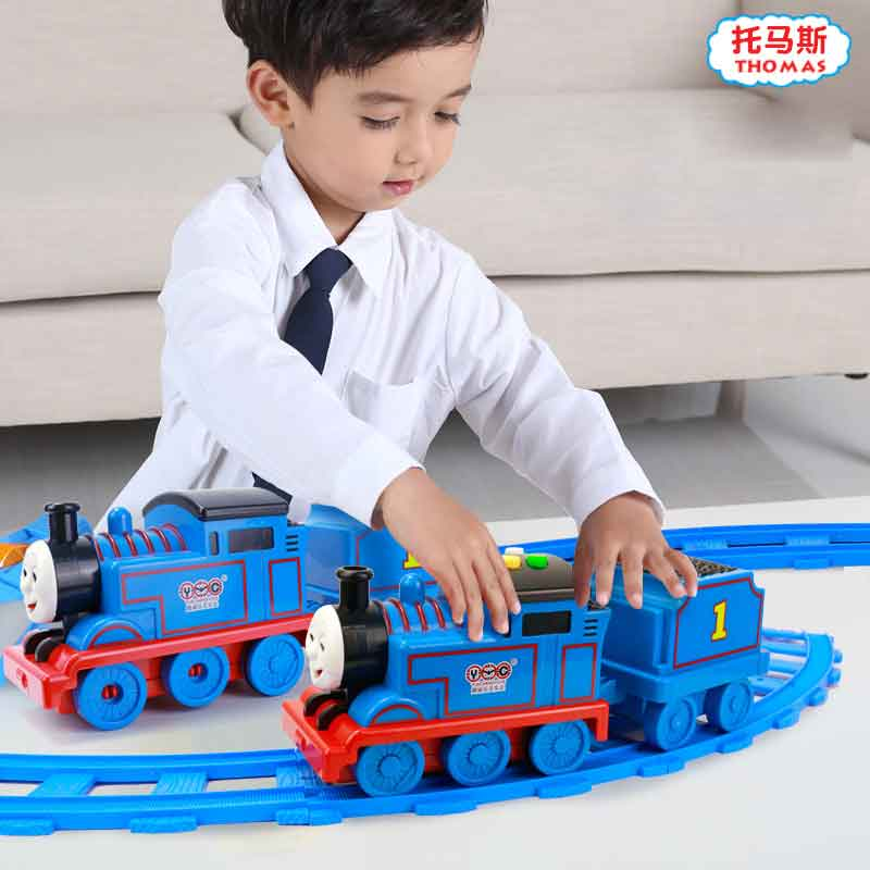 Thomas And Friend Boy Toy Track Inertia Train Toy Electric  Early Education Story Machine Car Toy Baby Early Education Machine