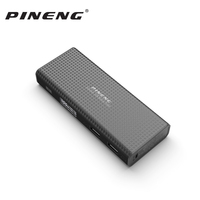 Pineng 10000mah Power Bank PN953 power Portable Battery Mobile LiPolymer Bank with LED Indicator For iphoneX Samsung S8 Xiaomi