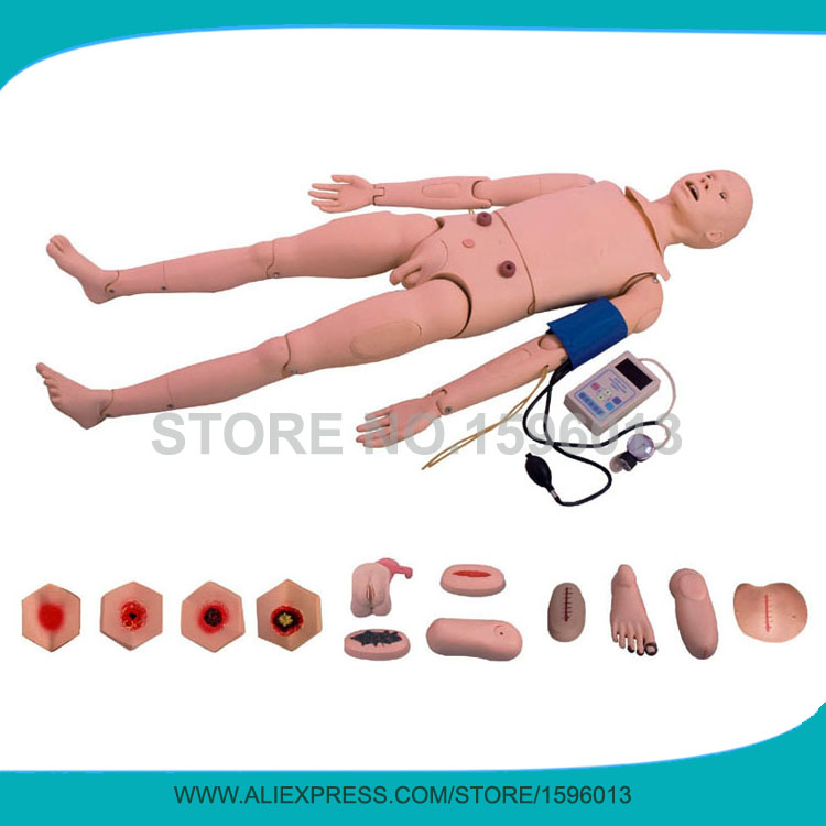 Full-functional Nursing Manikin With BP Training Arm,Adult Nursing Manikin,Trauma Care Model bix h2400 advanced full function nursing training manikin with blood pressure measure w194