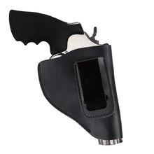 Универсальный скрытый Тактический из натуральной яловой кожи Черный револьвер кобура с металлическим зажимом ручной пистолет Перевозчик