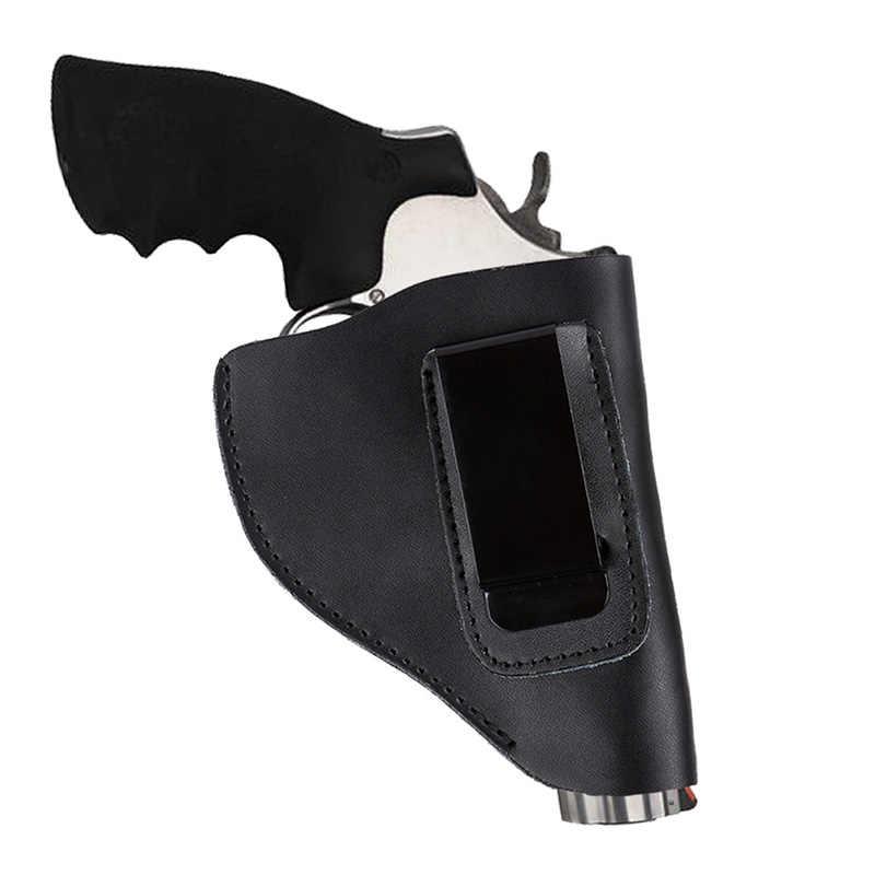 العالمي المخفية التكتيكية جلود الأبقار الأصلية الأسود مسدس الحافظة مع مشبك معدني اليد بندقية مسدس الناقل