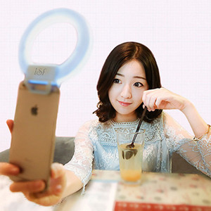Image 2 - Portable pince on mignon belle LED Selfie anneau lumière lampe autoportrait supplémentaire remplissage éclairage pour iPhone HTC Smartphone