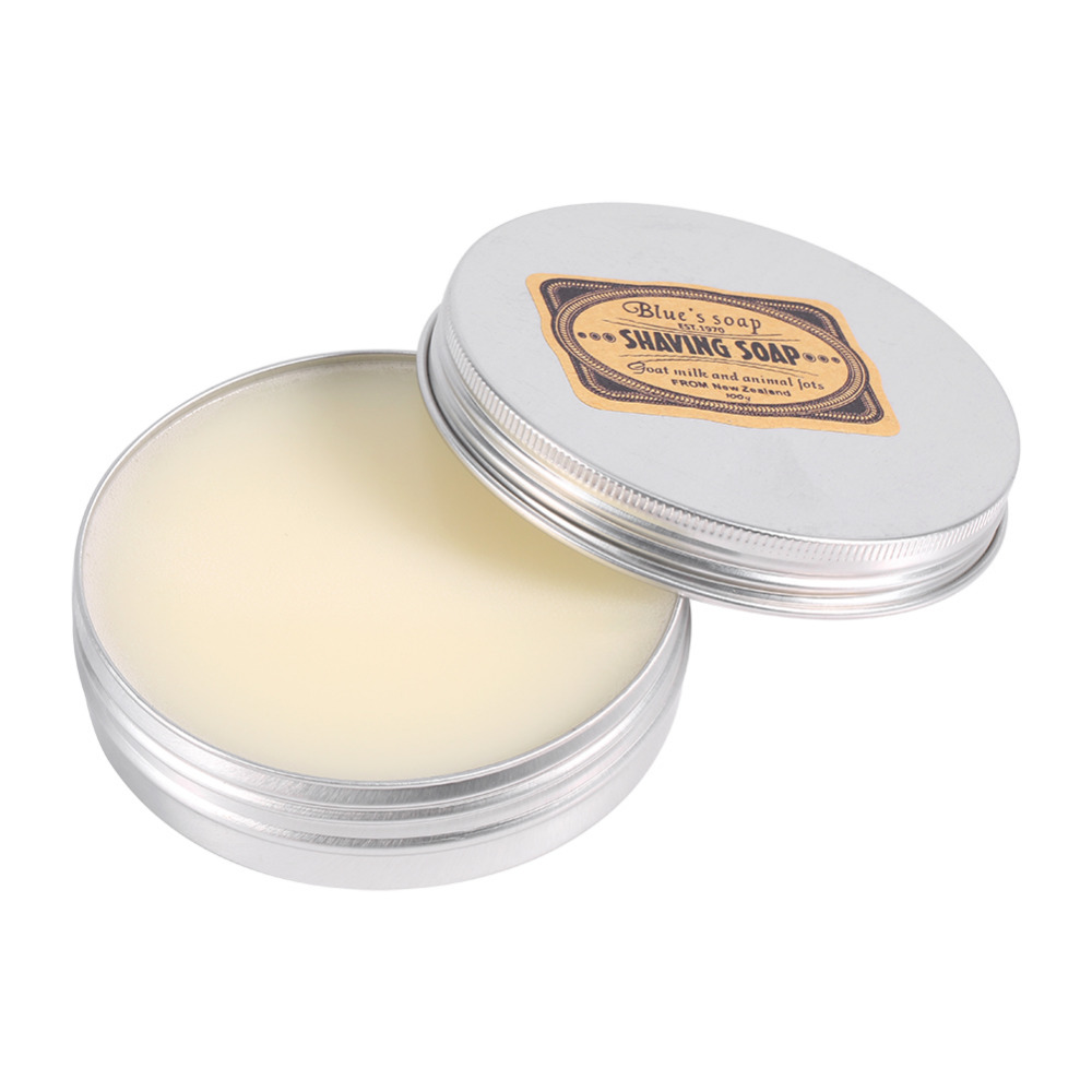Shaving Cream Deluxe Men's Mustache 1 Pcs Shaving Soap Round Facial Care Goat Milk Beard Shaving Cream Tool Shave Soap Removal
