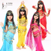 2015 Promotion 5PCS Children Bollywood Indian Dance Dresses Girls Performing Professional Belly Dance Costume Set For