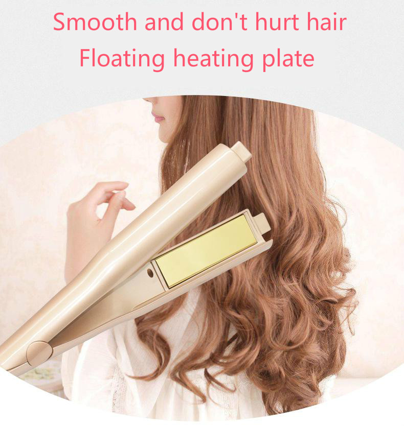 Hair Straightening LCD Iron Curling Iron 2 in 1 Hair Curler straightener comb hair Curler beauty care Iron Hair Comb brush C08 in Curling Irons from Home Appliances
