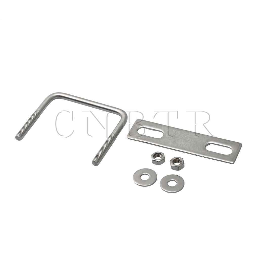 CNBTR Silver Stainless Steel Square U Bolts with Locking