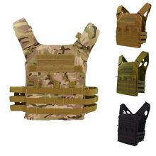 JPC Tactical Vest Airsoft Combat Hunting Vest Molle Chest Rig Protective Plate Carrier JPC Military Outdoor Combat Gear Vests h harness chest rig plate carrier tactical vest rifle 5 56 7 62x39 single double pistol flapped gp stuff pouches hunting men